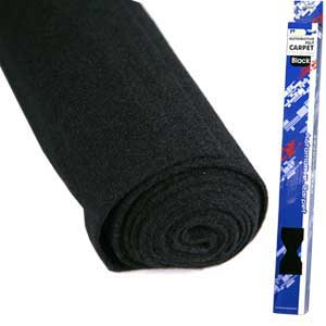 .75 X 2M BLACK FELT CARPET