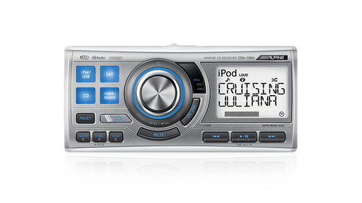 Alpine CDA-118M Marine CD/USB/iPod/MP3 (Commander) Receiver