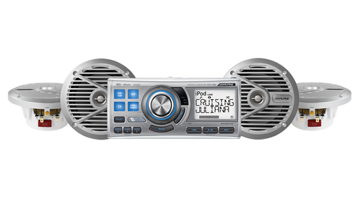 Alpine CDA-191104 Marine Head Unit & Speaker System (Silver)