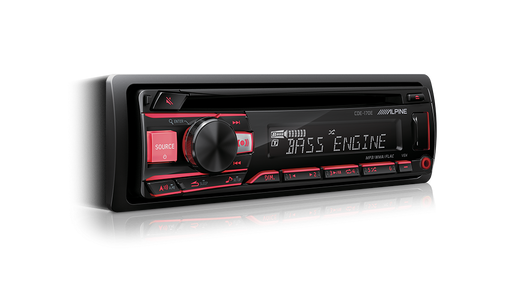 Alpine CDE-170E CD Receiver with Advanced Bluetooth® / USB / iPod® and iPhone® / TuneIt / App Controller
