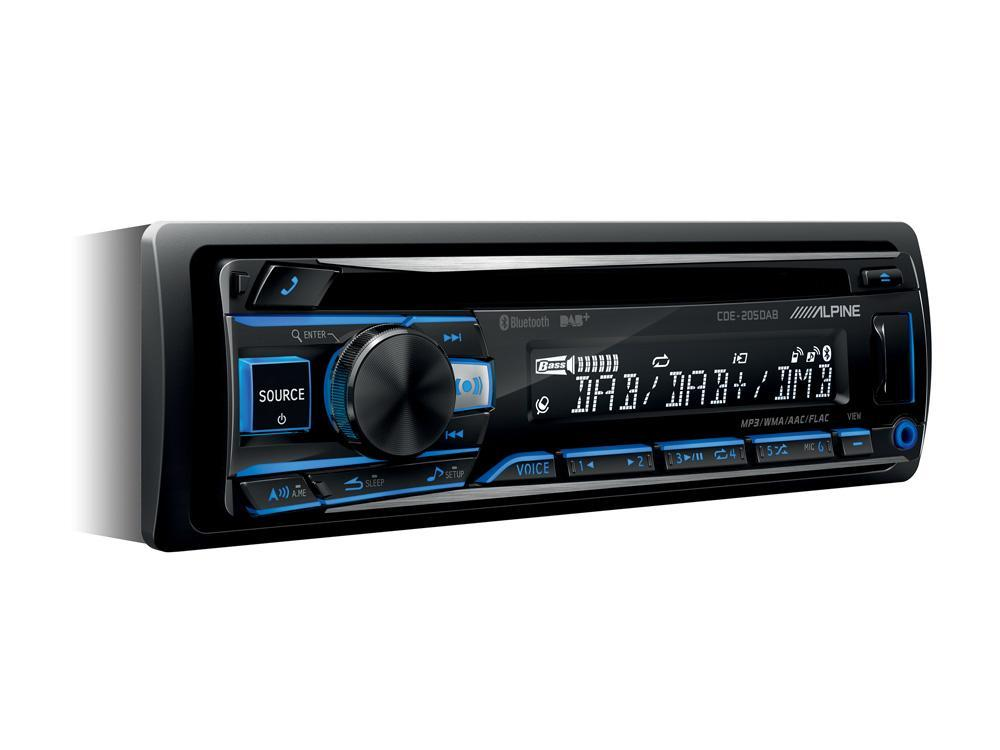 Alpine CDE-205DAB CD Receiver with Bluetooth® / USB / iPod® and iPhone® / FLAC / TuneIt