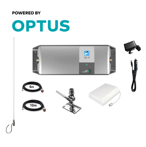 Cel-Fi GO Optus Marine Pack with Stainless Adjustable Mount (Wall Mount)