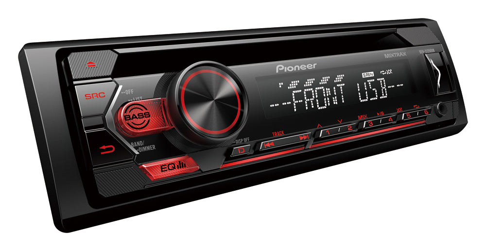 Pioneer DEH-S1250UB CD Receiver, USB, Android, AUX-IN, 2 Preout