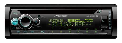 Pioneer DEH-S5250BT CD Receiver, AM/FM, Dual Phone BT, Pioneer Smart Sync compatible, Spotify, Android, iPhone, RGB display, Dual Zone Dimmer, USB, AUX, 2 Preouts, FLAC