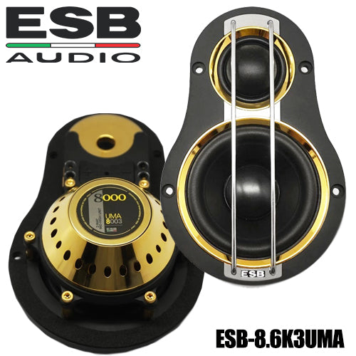 "ESB Audio 8.6K3 3-way 6.5"" Car Speaker - SET (with UMA 1""/ 3"" and 6.5"")"