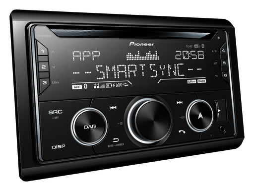 Pioneer FH-S820DAB 2 DIN CD Receiver, AM/FM, Dual Phone BT, DAB+, Pioneer Smart Sync compatible, Spotify, RGB Illumination, iPhone, Android, USB, FLAC, 3Preouts (with ANDAB1)