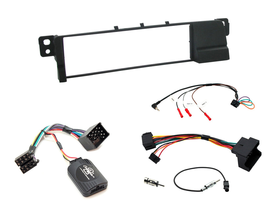 Aerpro FP8023K Single DIN Facia Kit for BMW 3 Series (Black)