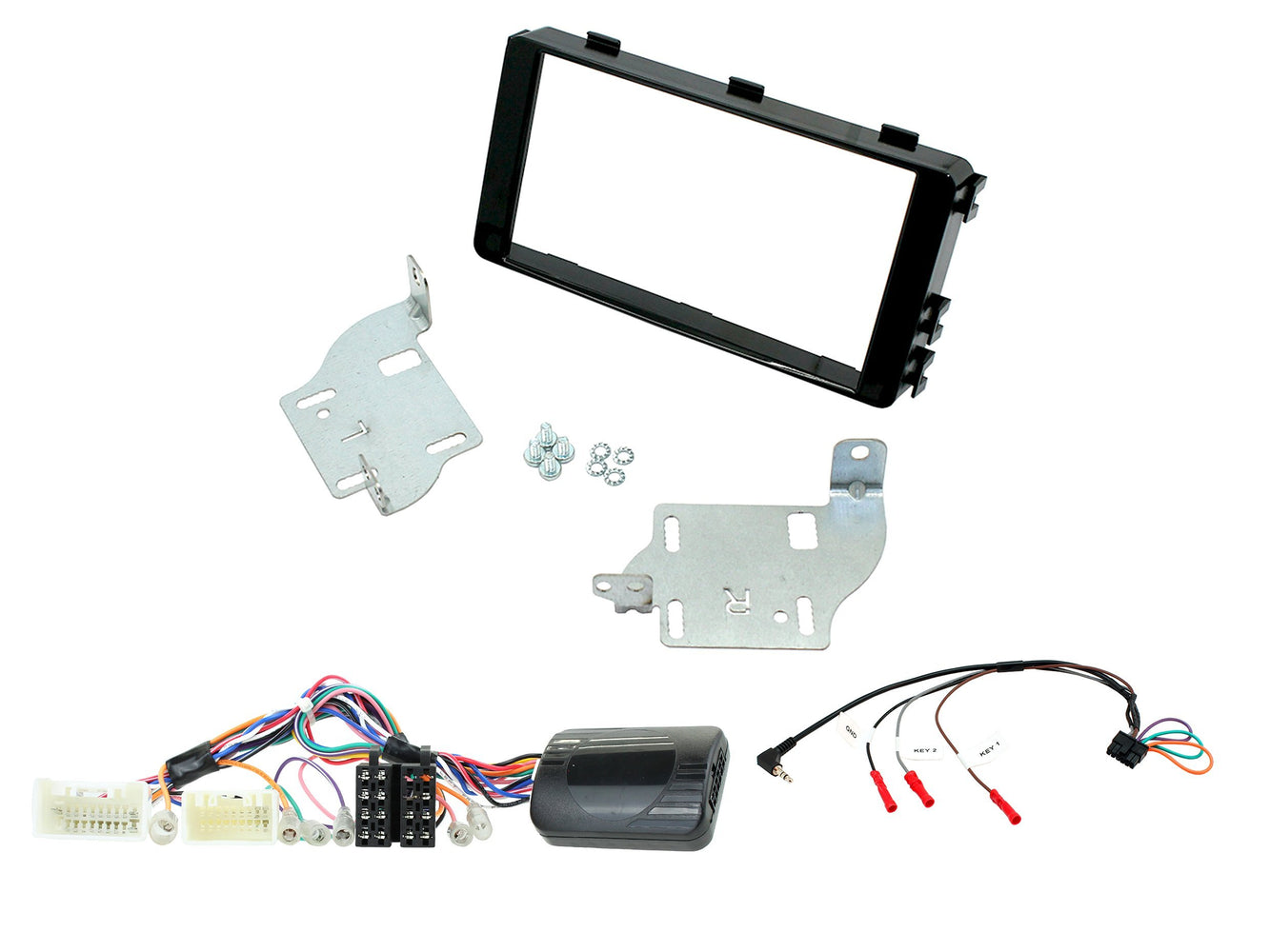 Aerpro FP9299K Double DIN Facia Kit for Mitsubishi Outlander (Black)