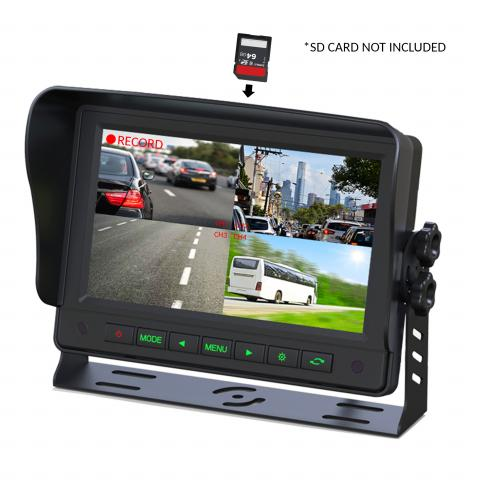 "Gator 7"" GT704DVR Commercial-grade Dash Mount Quad Display (with DVR function)"