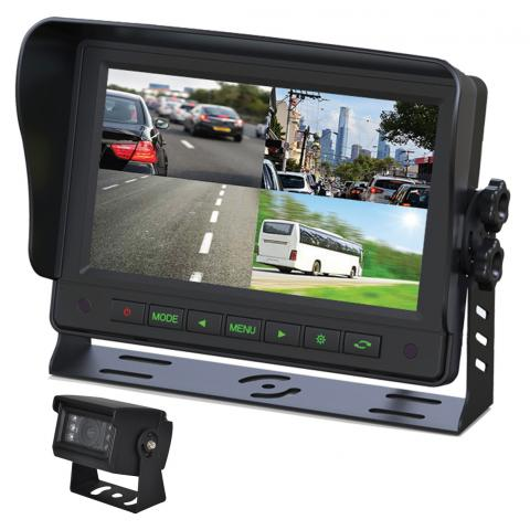"Gator 7"" GT704HD AHD Commercial-grade Dash Mount Quad Display Reverse Camera Kit"