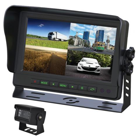 "Gator 9"" GT904SD Commercial-grade Dash Mount Quad Display Reverse Camera Kit"
