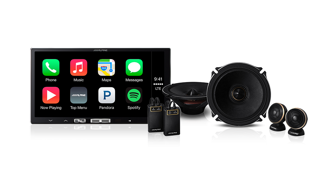 Alpine ILX-171002 Audio Visual Speaker System Bundle (iLX-107 7″ Wireless Apple CarPlay Audio Visual Receiver & X-170S X-Premium Sound 6.5″ Component Speakers)