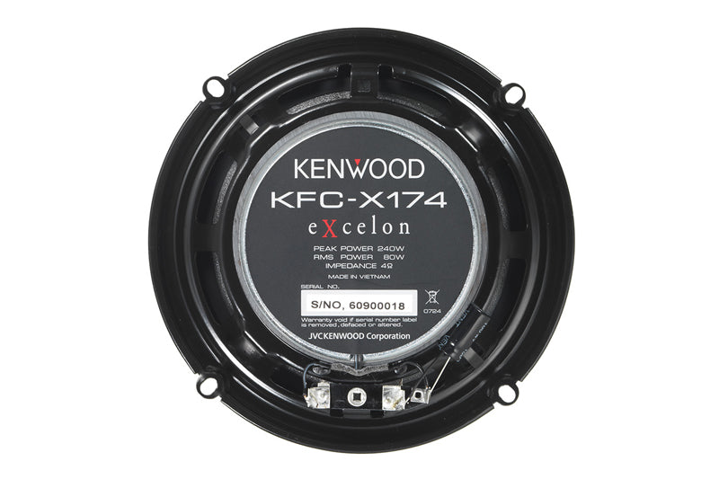 "Kenwood KFC-X174 X-Series 6 1/2"" 2-way speakers 240W peak"