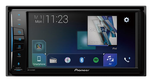 "Pioneer AVH-ZL5150BT 200mm 2 DIN A/V Receiver, 7"", CarPlay, Android Auto, AM/FM, Dual Phone BT, Spotify, AppRadio+, 24bit True Colour, USB, AUX, 3 Preouts (4V F+R+SW), Auto EQ & TA"