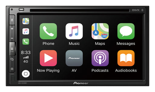 "Pioneer AVH-Z5250BT 2 DIN A/V Receiver, 6.8"", CarPlay, Android Auto, AM/FM, Dual Phone BT, Spotify, WebLink, 24bit True Colour, USB, AUX, 3 Preouts (4V F+R+SW), Auto EQ & TA"