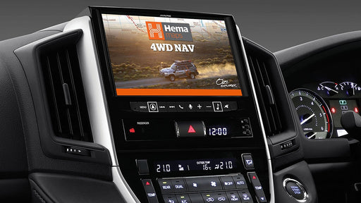 "Alpine LC16-X902D 9"" Primo 3.0 Navigation with Hema 4WD Off-Road Maps for Toyota Landcruiser 200 Series"