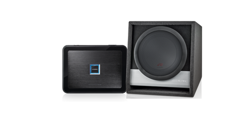 Alpine PDX-171003 PDX-M12 Mono Amplifier & RSB-W12D4 R-Series 12″ Subwoofer Enclosure Bundle
