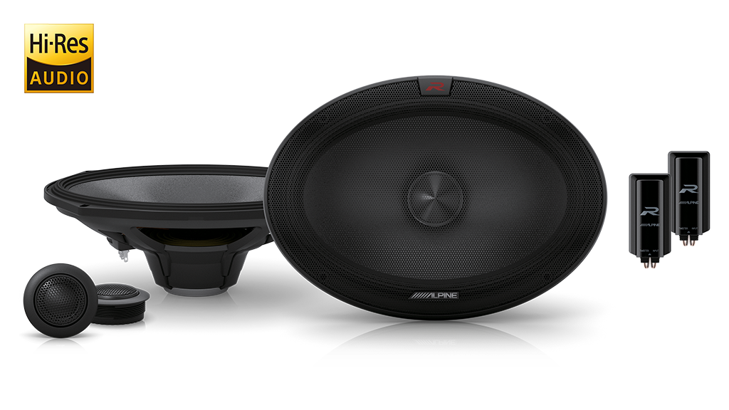 "Alpine R-S69C.2 6""x9"" (160mm x 240mm) R-Series 2-Way 300W Component Speaker"