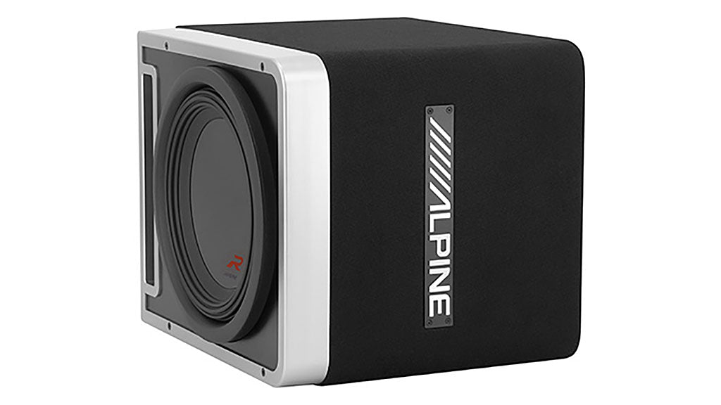 Alpine R-201205 R-Series Mono Amplifier and R-Series 10″ Halo Subwoofer with ProLink™