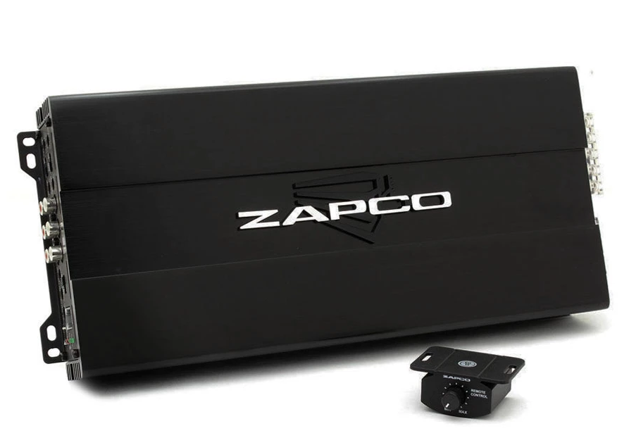 ZAPCO Studio D class 4 x 120RMS @4ohm, and 1 x 360RMS
