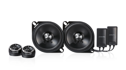 Alpine STE-G100S Type-E 100W Peak 4″ Component 2-Way Speakers