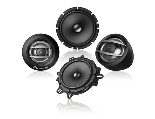 "Pioneer TS-A1600C Component Speakers 2 Way 6.5"" 350W Max, 80W Nominal Input (with adaptor plates)"