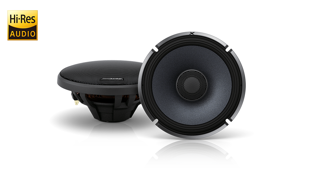 Alpine X-S65 X-Series 6-1/2″ 330W Coaxial 2-Way Speakers