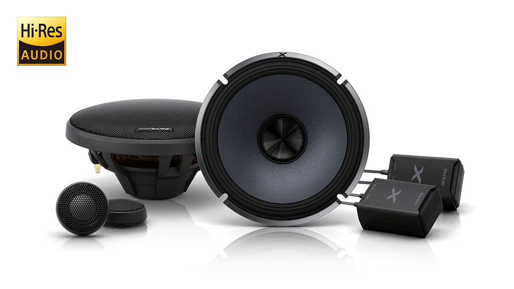 Alpine X-S65C X-Series 6-1/2″ 330W Component 2-Way Speakers