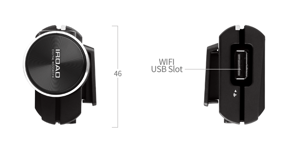 iRoad X9 Full HD Front & Rear Cameras - 16GB