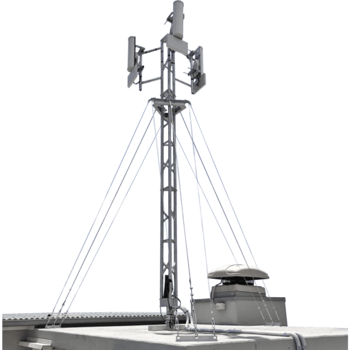 Blackhawk 220mm Aluminium Roof-mounted Lattice Tower (Galvanised Guyed)