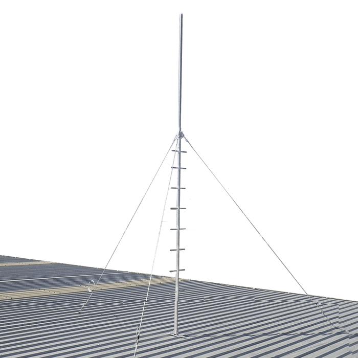 Blackhawk 5-metre Climbable Roof Mast - Stainless Guyed
