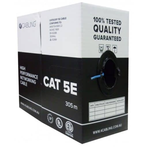 305-metre CAT5e UTP Solid Cable Reel Box (Blue)