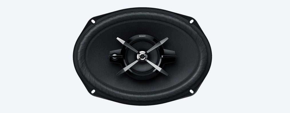 "Sony XSXB690 6 x 9"" (16 x 24cm) 3-way High-power Coaxial Speakers"