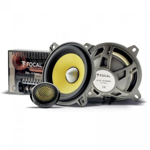 "FOCAL ES100K 4"" component kit, Elite series, 60W RMS, 110Hz-22kHz, 4 ohm (grille included)"