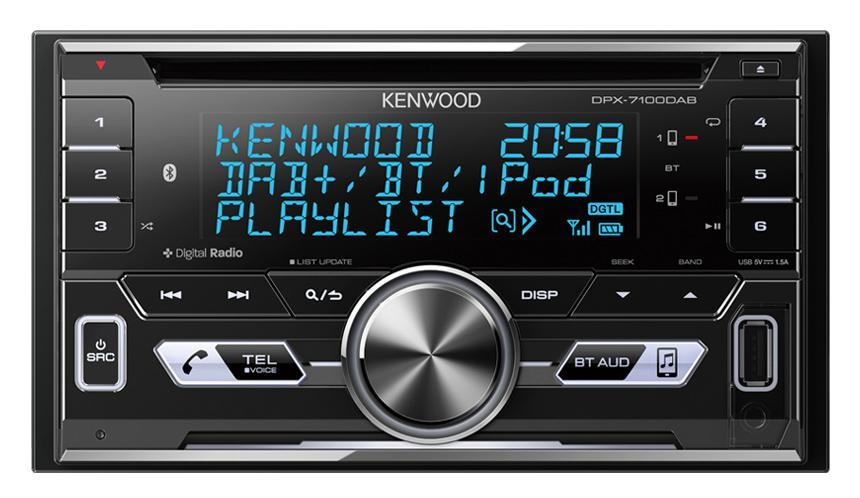 Kenwood DPX-7100DAB Built-in BT & DAB+, USB / CD Receiver