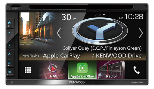 "Kenwood DNX5180SN AV GPS Navigation System with 6.8"" WVGA Clear-coated Resistive Display"