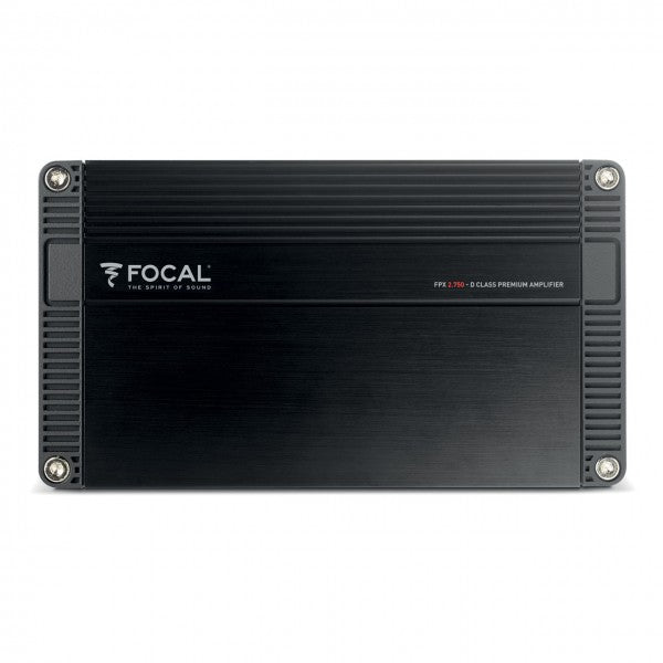 FOCAL FPX2.750 2-channel Compact Amplifier, D Class, 2 x 220W RMS (4Ω), 2 x 385W RMS (2Ω), 1 x 770W RMS (4Ω bridged)