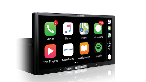 "Alpine iLX-107 7"" Audio Visual Receiver with Wireless Apple CarPlay / Siri / Apple Maps / Spotify / RDS / AUX / TuneIt"