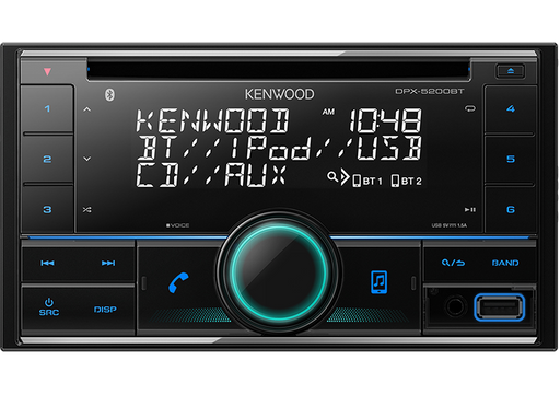 Kenwood DPX-5200BT Double DIN USB / CD Receiver with built-in Bluetooth (Remote Controller included)