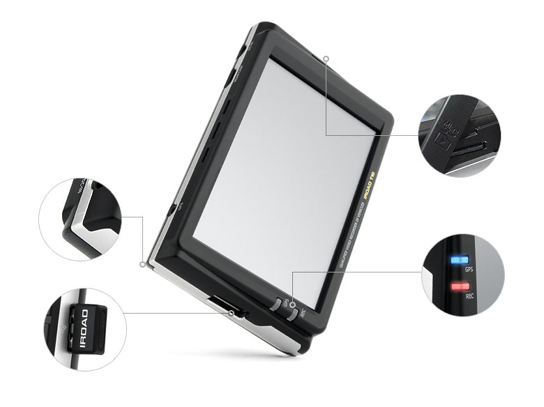 iRoad T10 Full HD Front & Rear Cameras - 16GB