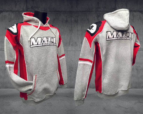 "Hoodie - Sweat-shirt à capuche ""RED EDITION"" Gris - MATT Racing"