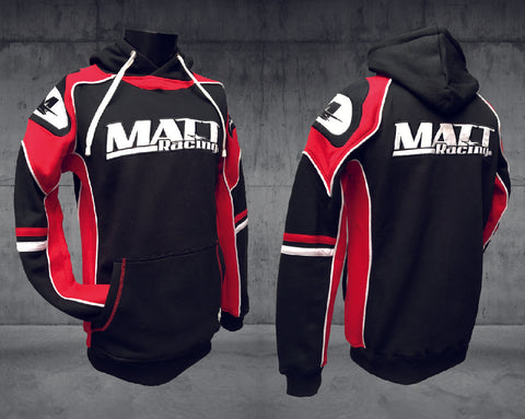 "Hoodie - Sweat-shirt à capuche ""RED EDITION"" Noir - MATT Racing"