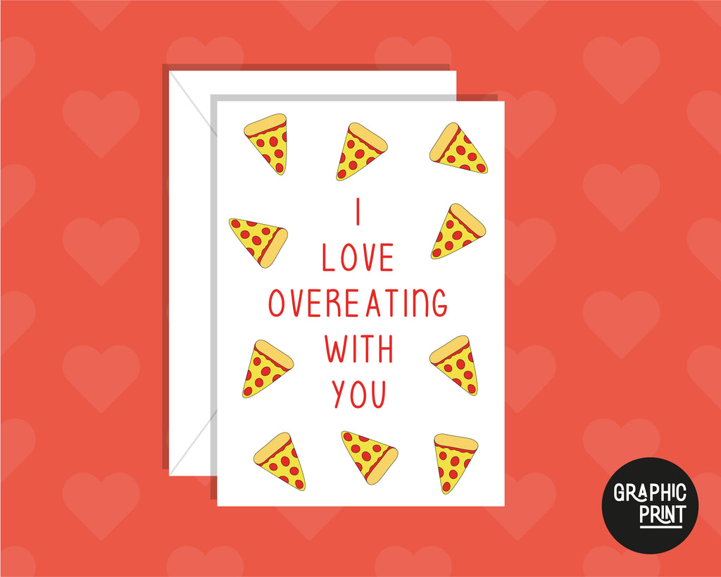 I Love Overeating With You, Funny Anniversary Card