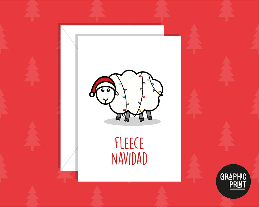 Fleece Navidad Christmas Carol Funny Christmas Greeting Card