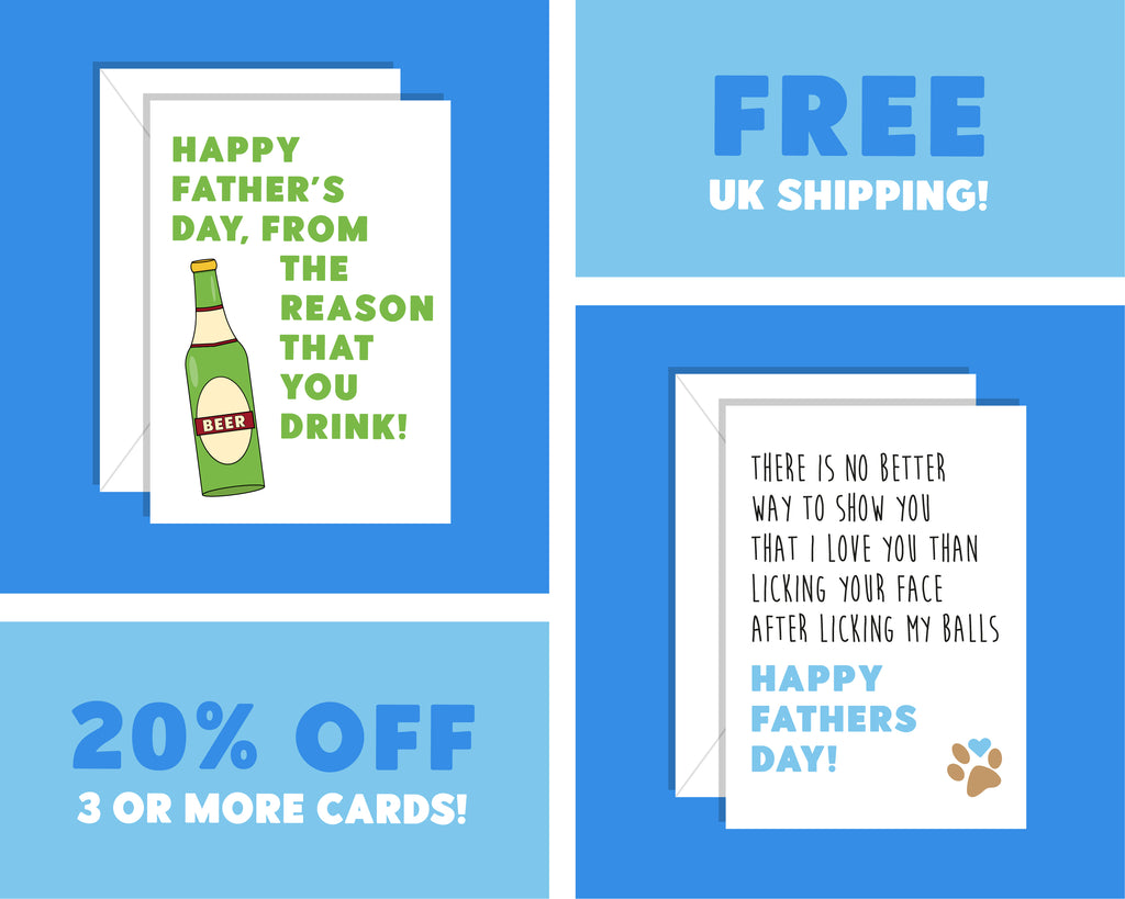 Shit On It, It's Father's Day Friday Night Dinner Card