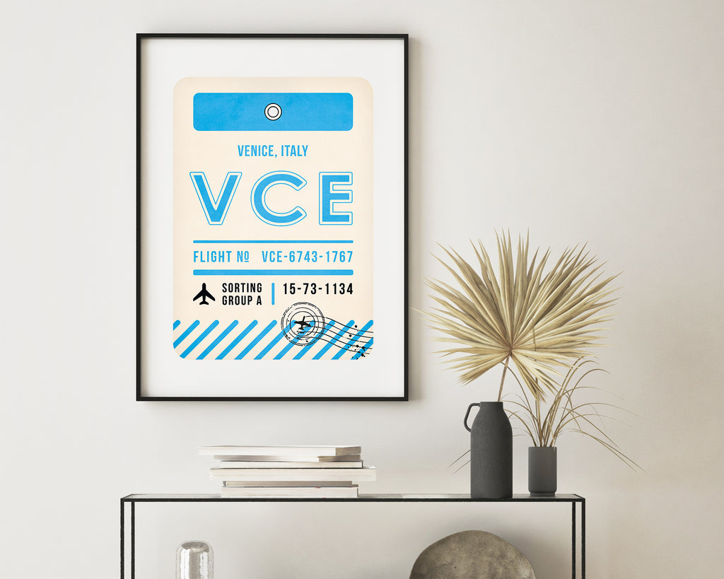 Venice, Italy Luggage Tag Minimal Travel Poster