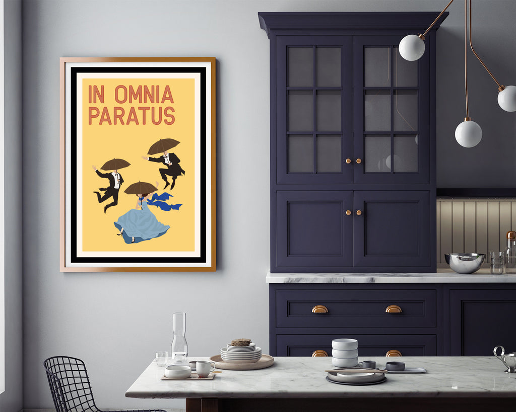 Gilmore Girls In Omnia Paratus | Gilmore Girls TV Show Poster Wall Art