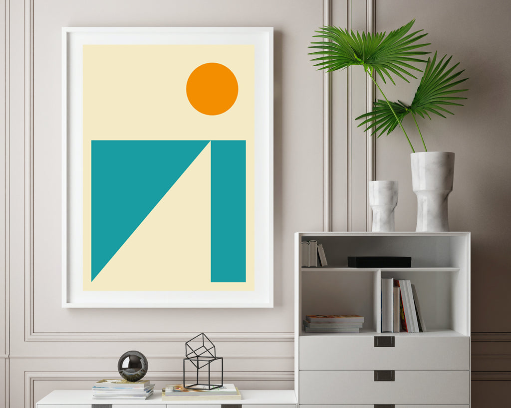 Abstract Mountain Landscape Wall Art Print