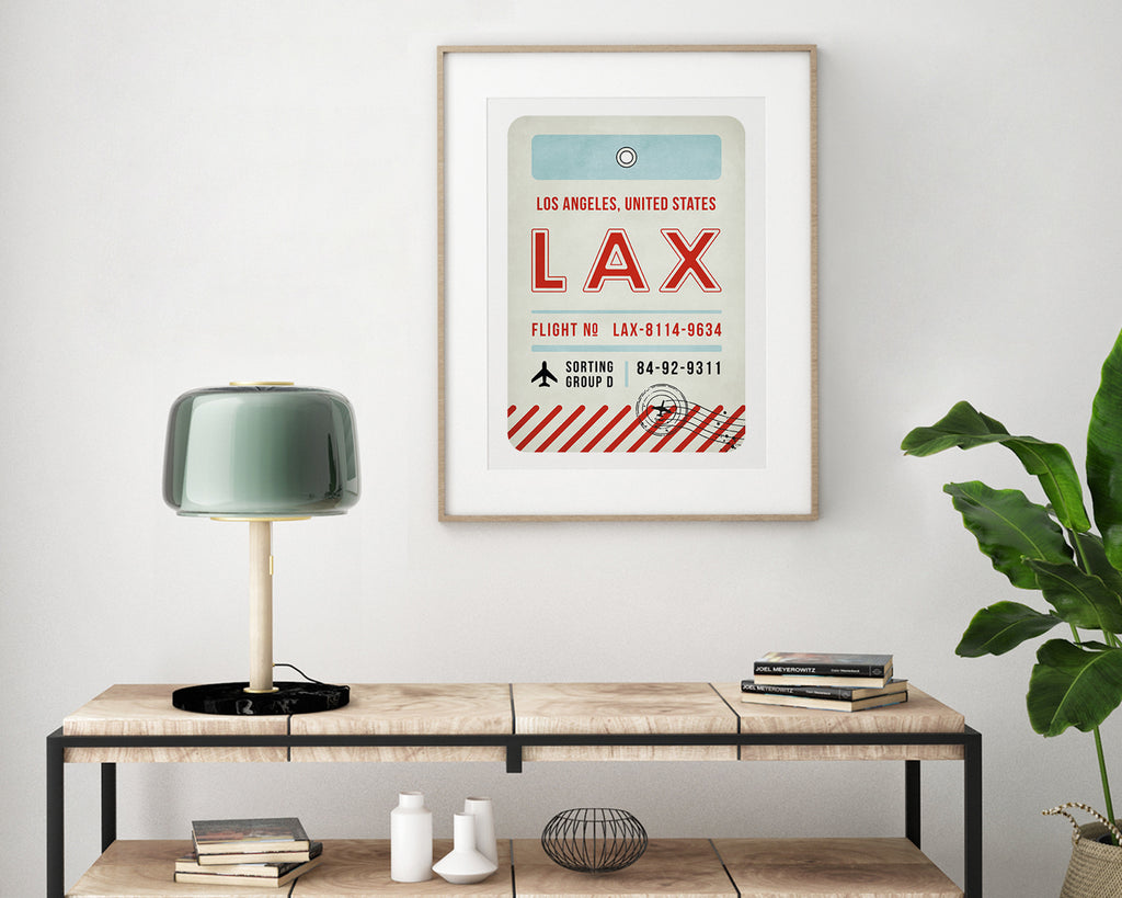 Los Angeles, United States of America Luggage Tag Travel Poster