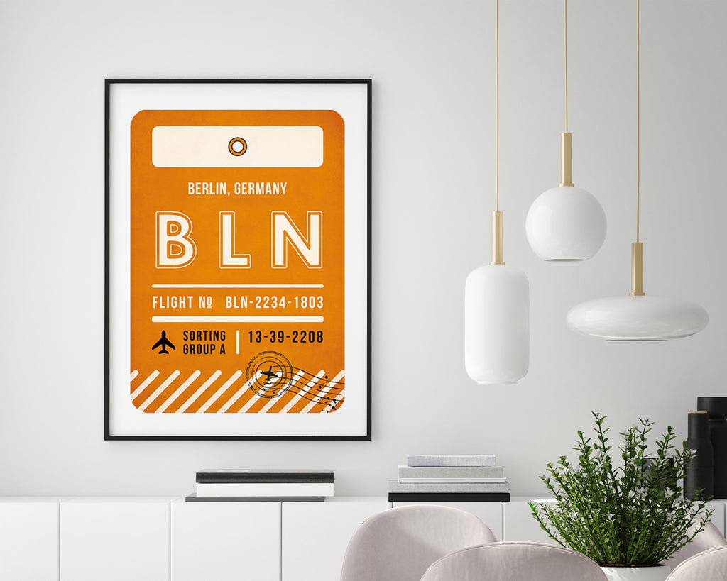 Berlin, Germany Luggage Tag Travel Wall Art Print